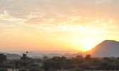 Sunrise Over The Aravalli Mountains